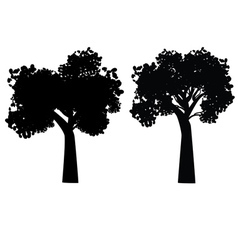 Stylized tree silhouette5 vector