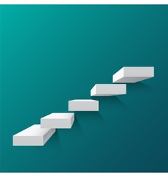 Abstract background with white stairs vector image vector image