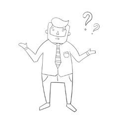 Businessman and question vector