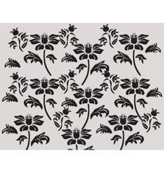 Classic black flower ornament composition vector