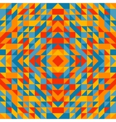 Colorful trianglulation pattern vector image vector image