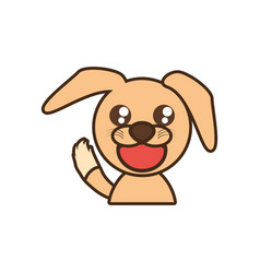 Doggy baby animal kawaii design vector