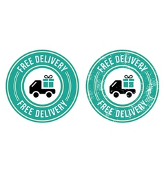 Free delivery retro grunge badge vector image