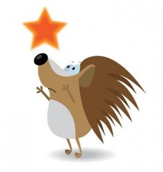 Hedgehog reach for the star vector