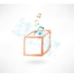 music box grunge icon vector image