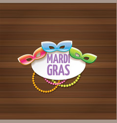 New orleans mardi gras carnival label with vector