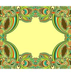 oriental ornamental floral vintage frame design vector image