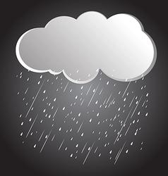 rain clouds 3 vector image vector image