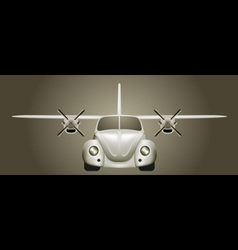 Retro flying car vector image vector image