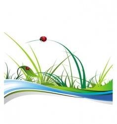 summer natural illustration vector image vector image