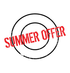 Summer offer rubber stamp vector