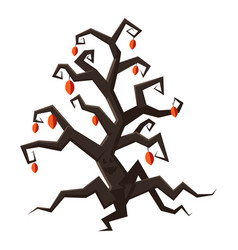 Tree icon cartoon style vector