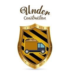 Under construction digital design vector image vector image