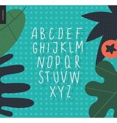uppercase alphabet 4 vector image vector image