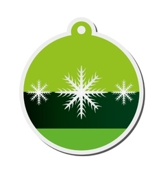 Christmas tree ornament icon vector
