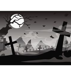 Halloween tomb background vector