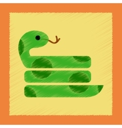 Flat shading style icon reptile snake vector