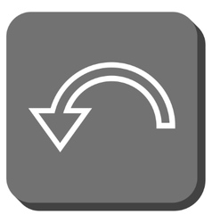 Rotate left rounded square icon vector