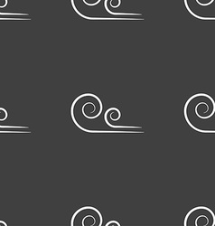 Wind icon sign seamless pattern on a gray vector