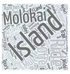 The hawaiian island of molokai word cloud concept vector