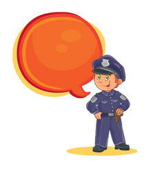 icon of small child police man vector image