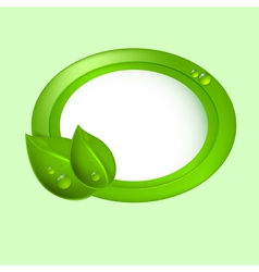 Green leaves with circle vector
