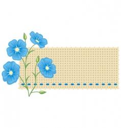Flax flower vector