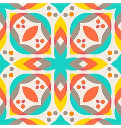 Abstract geometric pattern - colorful floor tile vector image