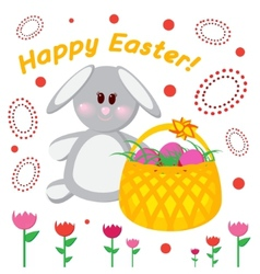 Greeting card happy easter vector