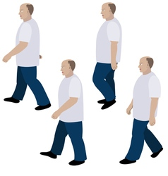 Set of position a person walking vector