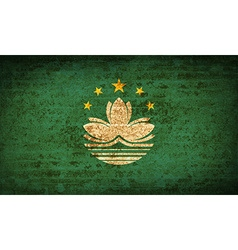 Flags macau with dirty paper texture vector