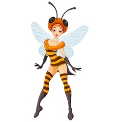 Fairy bee vector