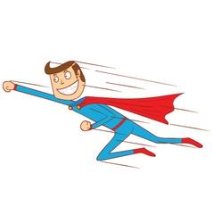 Flying super hero vector