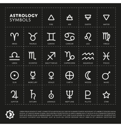 Astrology signs of the zodiac vector