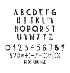 Funny children simple negligent letters grunge vector
