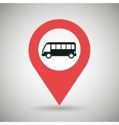 Red signal black bus isolated icon design vector