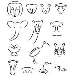 animal illustrations vector image