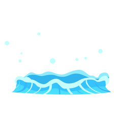 Aqueous stream with splashes of blue crystal aqua vector