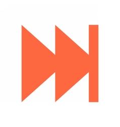 Arrow sign direction icon circle button skip vector