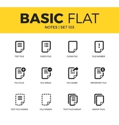 Basic set of notes icons vector image