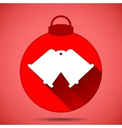 Christmas icon with the silhouette of bells on a vector
