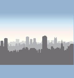 city street skyline urban landscape building vector image vector image