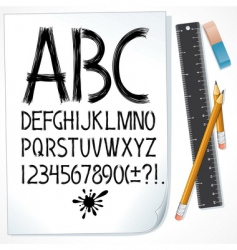 drawn alphabet vector image vector image