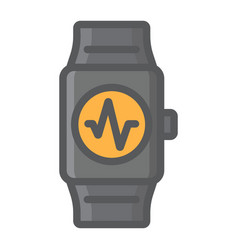 fitness tracker filled outline icon fitness vector image vector image