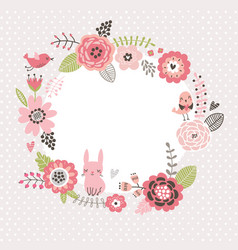 floral background with bird vector image vector image