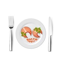 fork fish knife vector image