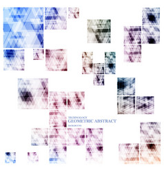 Geometric technological various square abstract vector