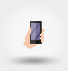 Hand with phone vector