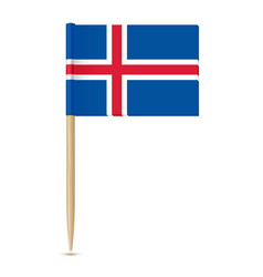iceland flag toothpick 10eps vector image vector image