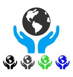 International insurance flat icon vector